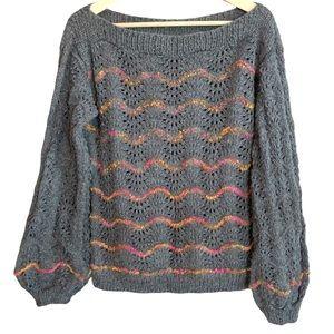 Brandless Bell sleeve scoop neck knit sweater